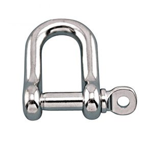 Straight D shackle with screw pin