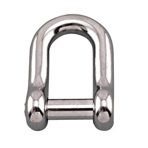 Straight D shackle with no snag pin