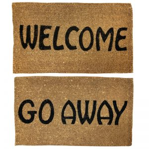 Welcome Go Away Mat