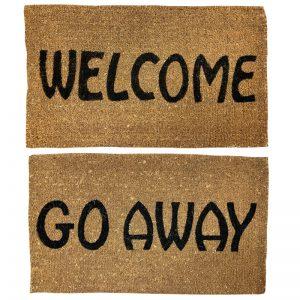 Welcome Go Away Mat