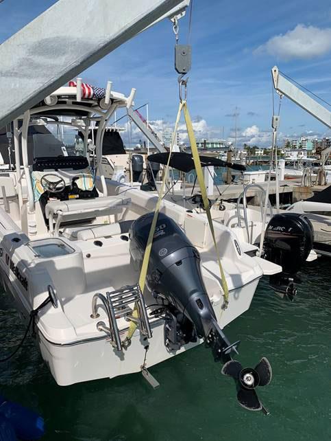 Nylon Sling on boat