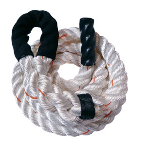 White PolyDac Climbing Rope