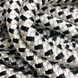 Double Braid White & Black